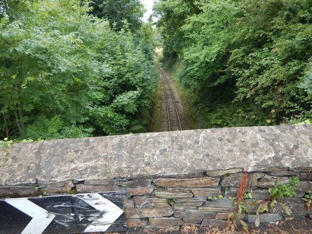 The A5 Bridge Crosses the Railway Cutting