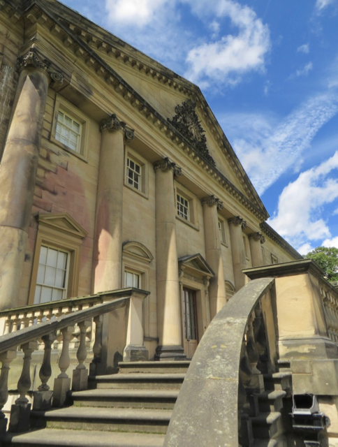 Steps to the terrace, Nostell Priory