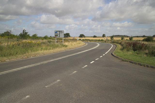 Ridgmont High Street approaching the A507
