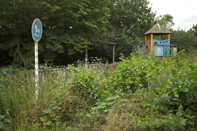 Overgrown Play Area, Leicester Markfield Services