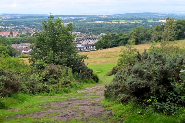 Northwest from Corstorphine Hill