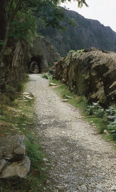 Old trackbed and tunnels, Afon Glaslyn valley