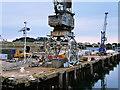 SW8132 : Falmouth Docks, County Wharf by David Dixon