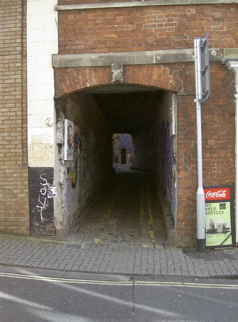 Entrance to Leonard Lane