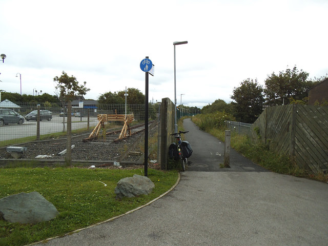 Start of the Morecambe to Lancaster cycle route