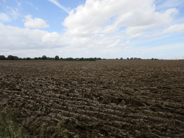 Ploughed field near Humbleton Hall