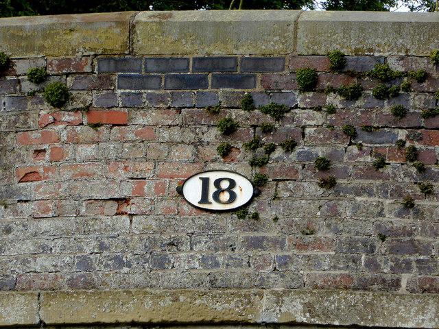 Canal bridge detail near Wrenbury in Cheshire