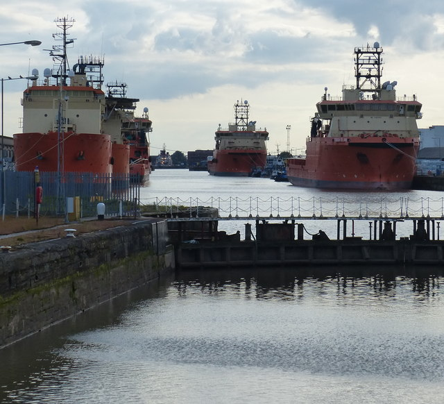 Ships moored in the Albert Dock, Kingston upon Hull