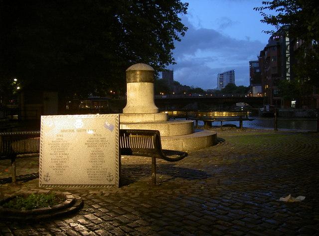 Merchant Navy memorial on Welsh Back