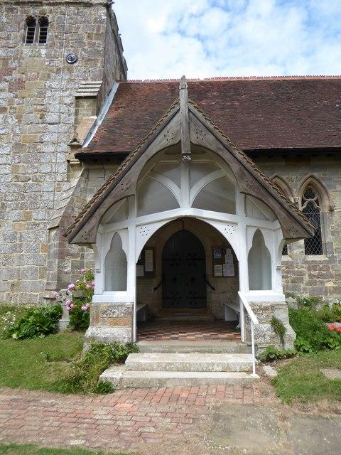 St Giles, Dallington: porch