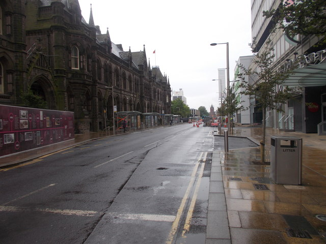 Albert Road - viewed from Corporation Road