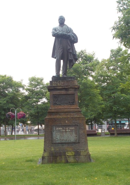 Statue of John Vaughan - outside Central Library, Albert Road