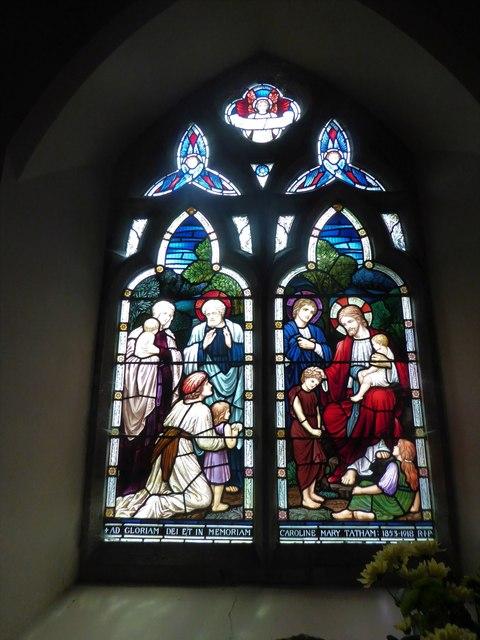 St Giles, Dallington: stained glass window (v)