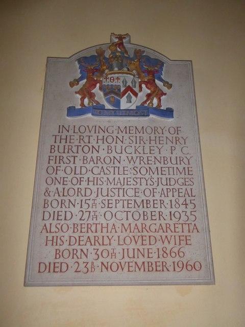 St Giles, Dallington: memorial (i)