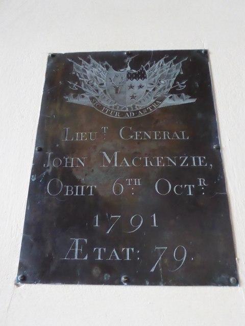 St Giles, Dallington: memorial (iv)
