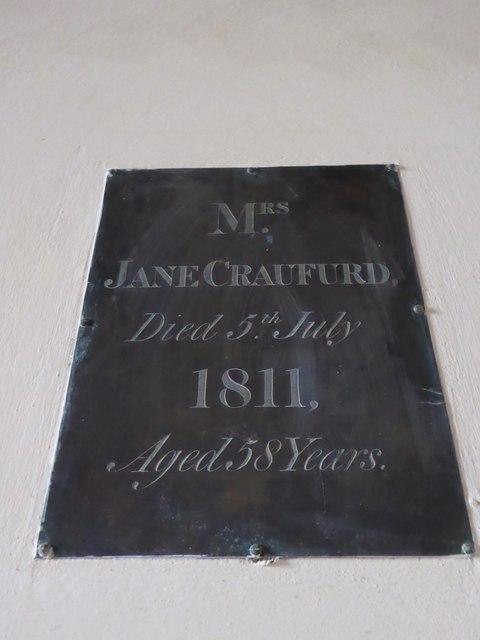 St Giles, Dallington: memorial (v)