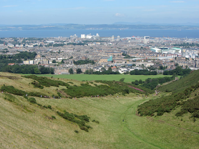 View over Holyrood Park
