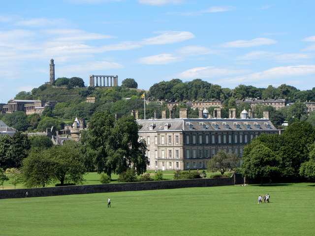 View towards the Palace of Holyroodhouse