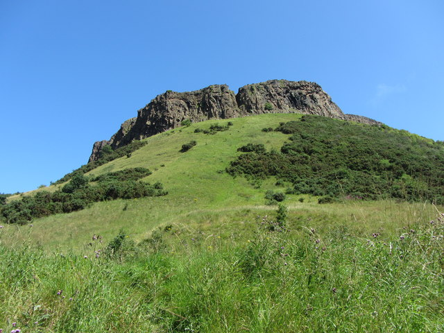 View to Cat Nick on Salisbury Crags