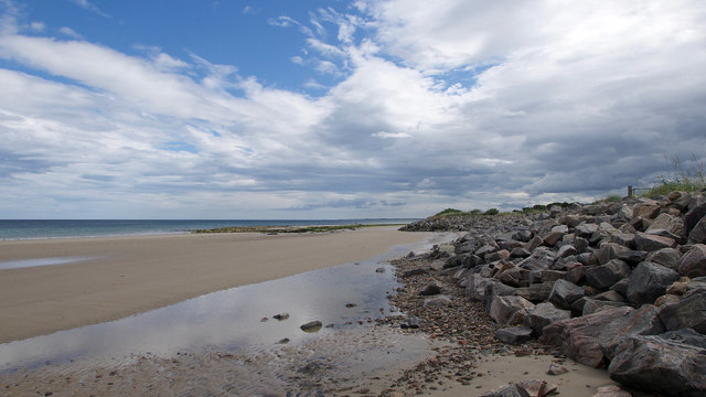 Coastal defences by Nairn Golf Course