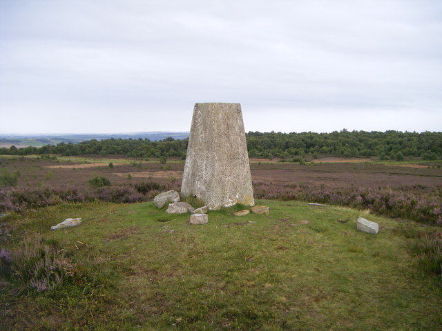 Knitsley Fell and trig point