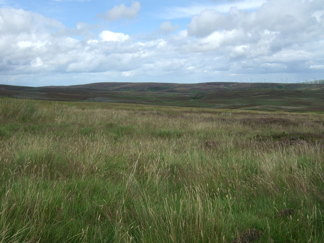 Rough grazing and moorland north of the B6355