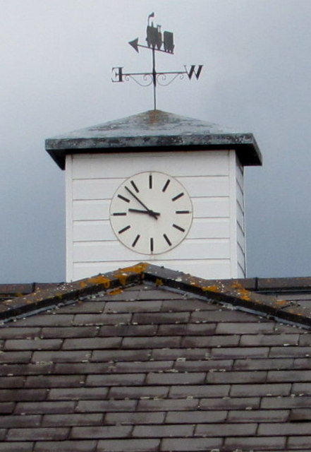 Weather vane and clock tower, Ashchurch