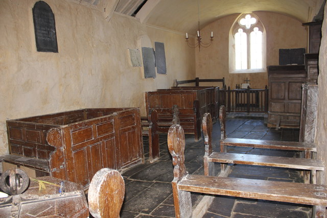 Interior of St Baglan's Church, Llanfaglan