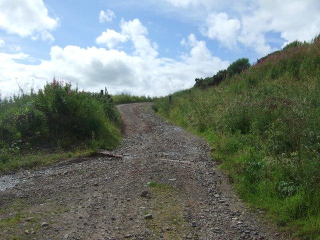 Track of the B6355 near Ellemford Bridge