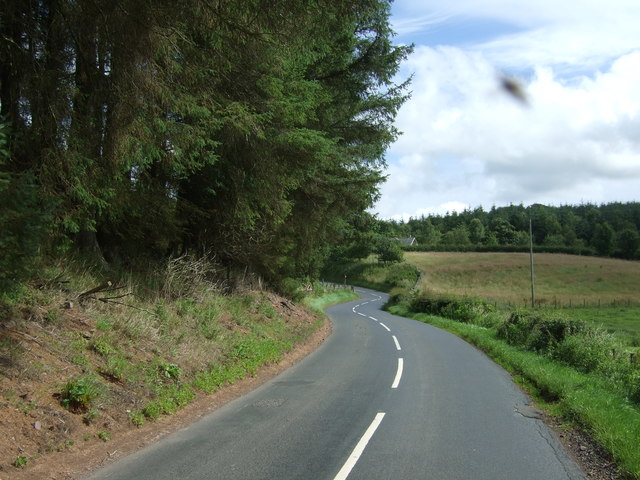 A twisty B6355 towards Chirnside