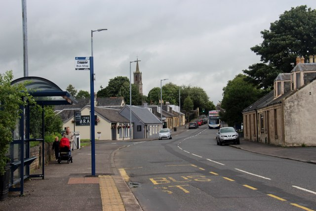 Bus stop at Townfoot, Dreghorn