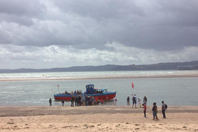 Exmouth beach.  Boat trip
