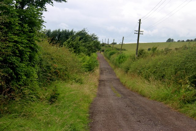 Farm road to Busbie Holdings, Crosshouse