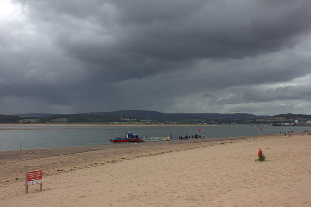 Exmouth beach before the storm