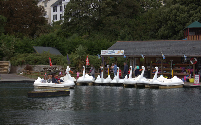 Swan pedalo's at Exmouth