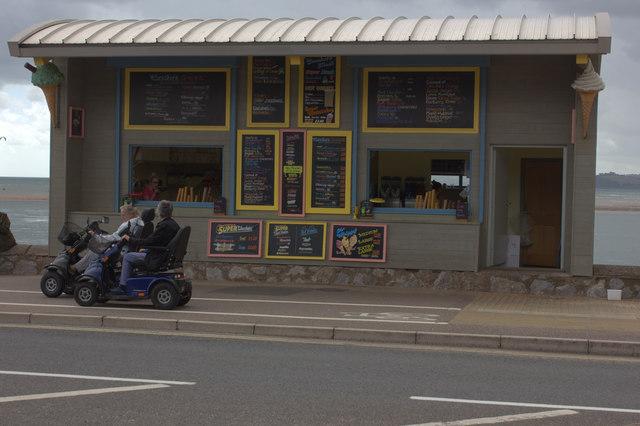 Ice cream kiosk on Exmouth seafront