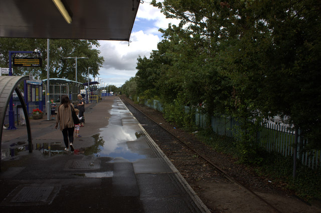Exmouth station platform