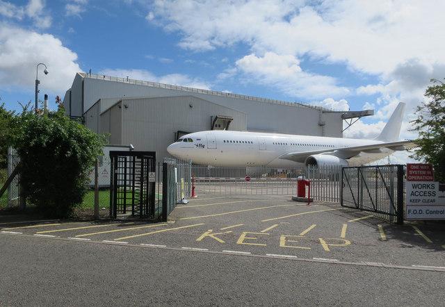 Airbus A330-200 at Cambridge Airport
