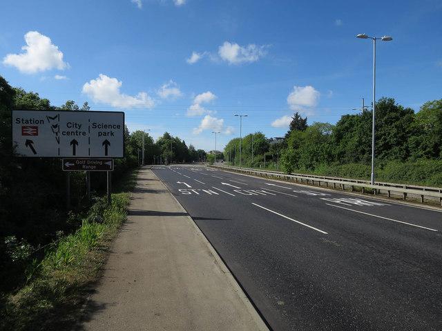 New road layout, Milton Road