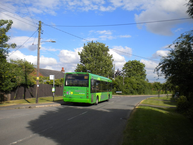 Bus at Bottesford station (1)