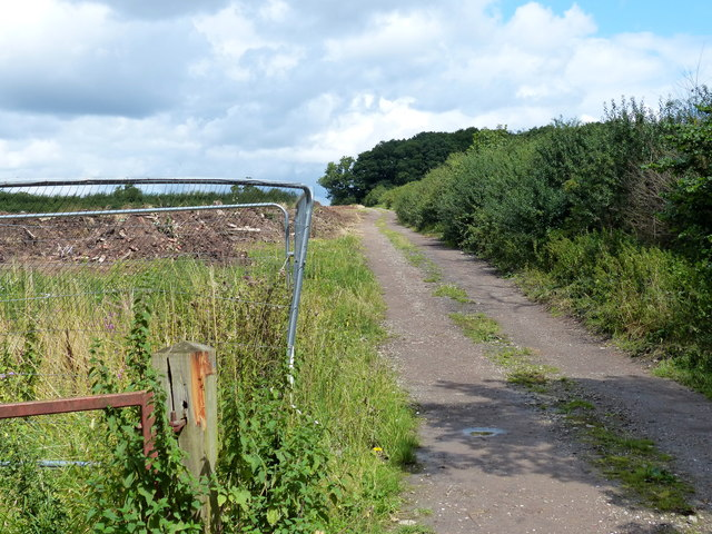 Track next to the Lubbesthorpe Bridle Road