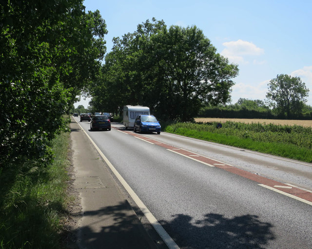 Single carriageway section of A47