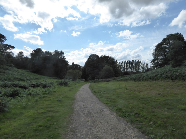 Footpath below the Visitor Centre
