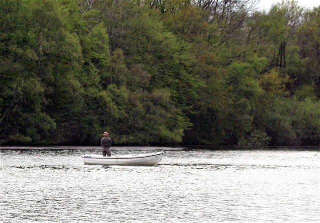 Fishing on the Powdermill Reservoir, Brede