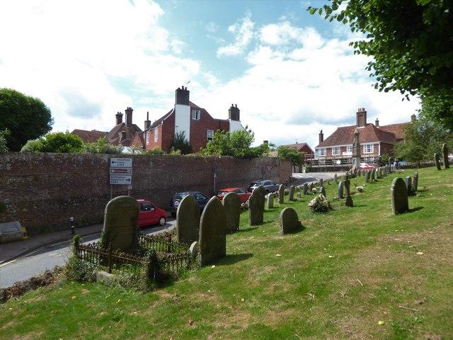 St Bartholomew, Burwash: churchyard (f)