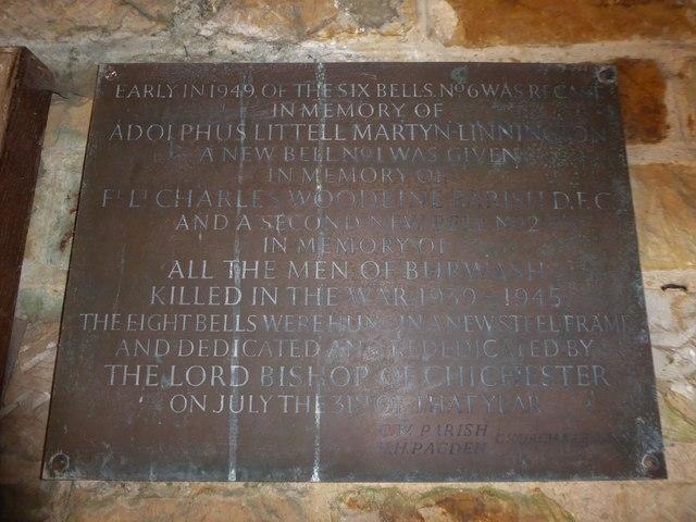 St Bartholomew, Burwash: memorial (ii)