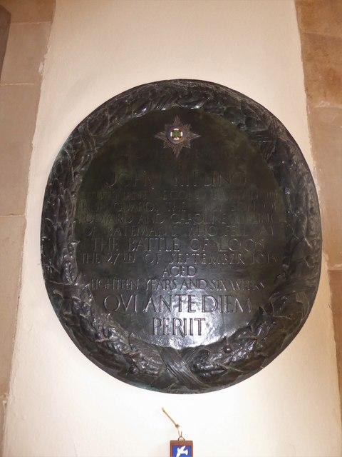St Bartholomew, Burwash: memorial (xiii)