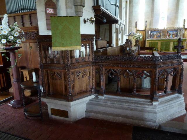 Inside St Bartholomew, Burwash (vi)