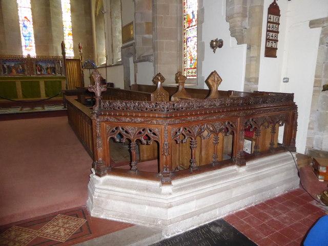 Inside St Bartholomew, Burwash (vii)