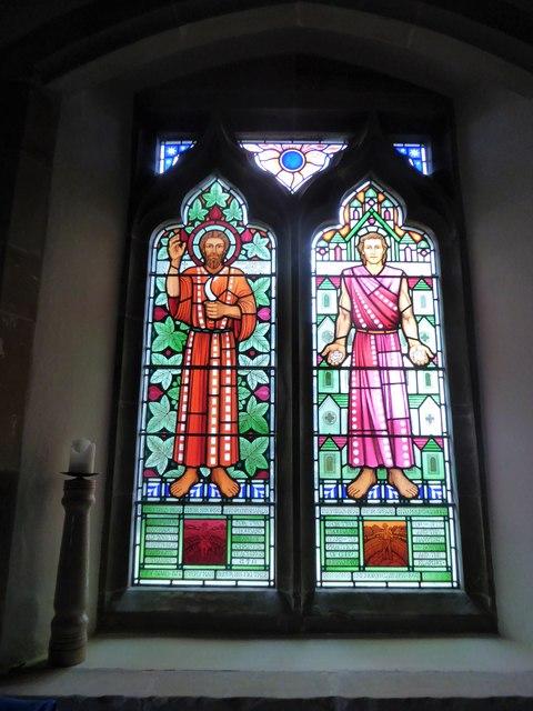 St Bartholomew, Burwash: stained glass window (A)